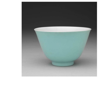 清 雍正 松石綠釉茶杯 Teacup in Pale Turquoise Glaze
