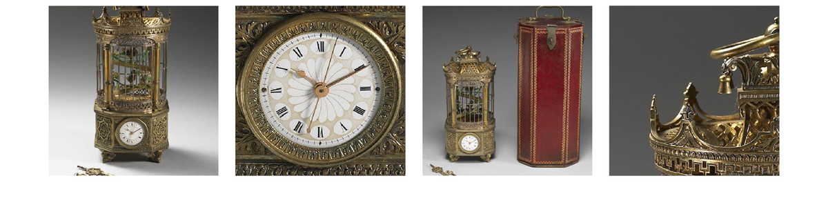 【十九世紀 雀籠式鐘】Clock in the Form of a Birdcage, 19th Century