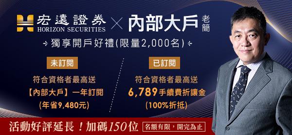 【宏遠證券╳老簡】新開戶最高享9480元豪禮
